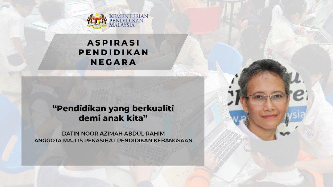 Maszlee Malik On Twitter Datin Noor Azimah Binti Abdul Rahim Sebagai Anggota Majlis Penasihat Pendidikan Kebangsaan