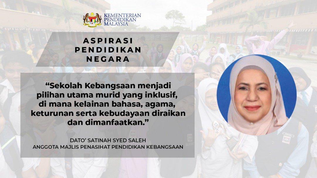 Maszlee Malik On Twitter Dato Satinah Binti Syed Saleh Sebagai Anggota Majlis Penasihat Pendidikan Kebangsaan