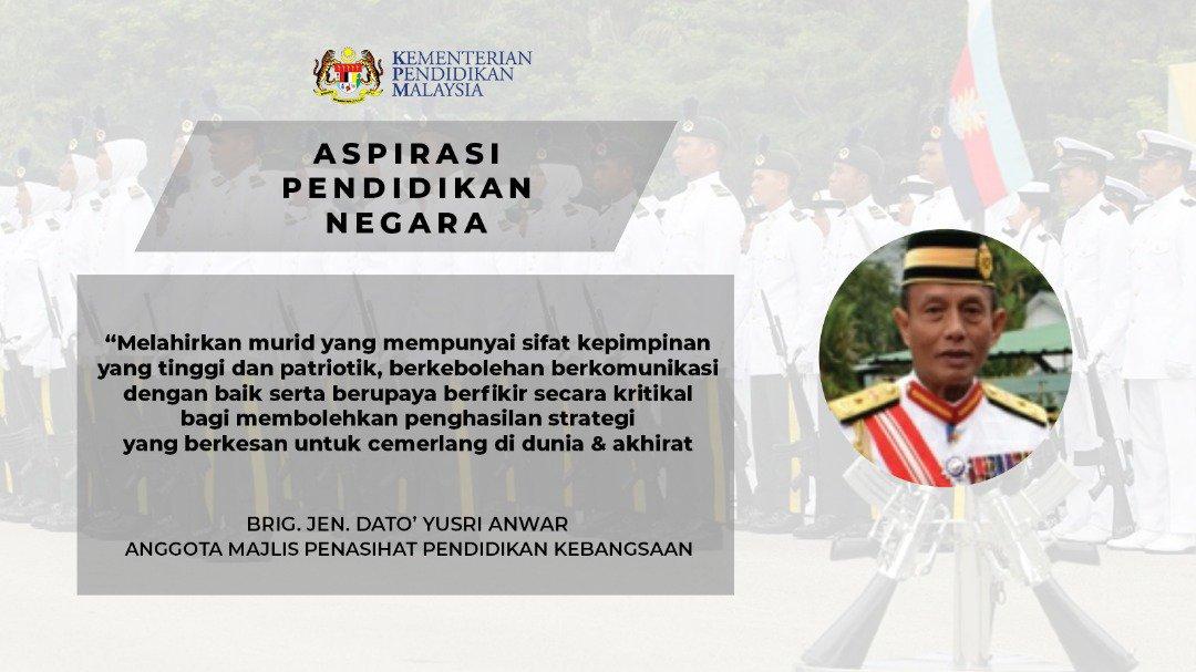 Maszlee Malik On Twitter Brig Jen Dato Yusri Bin Anwar Sebagai Anggota Majlis Penasihat Pendidikan Kebangsaan