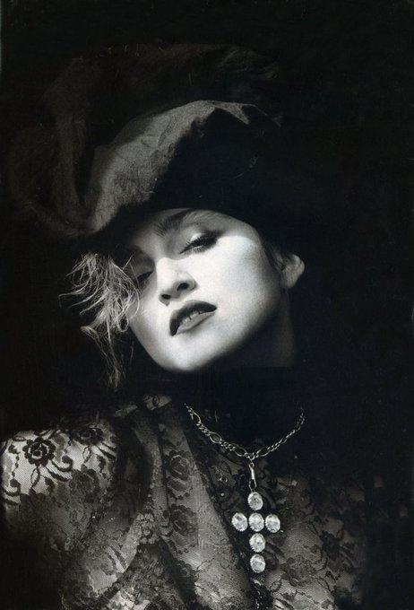 Happy birthday to Madonna. Photo by Herb Ritts, 1984.