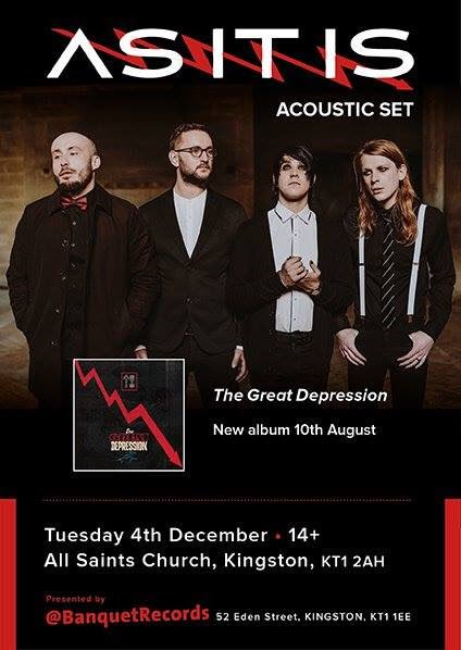 .@ASITISofficial have announced a special one-off acoustic performance at Kingston&#39;s All Saints Church on December 4th, following their forthcoming UK headline tour. <br>http://pic.twitter.com/oWIjliLtRc