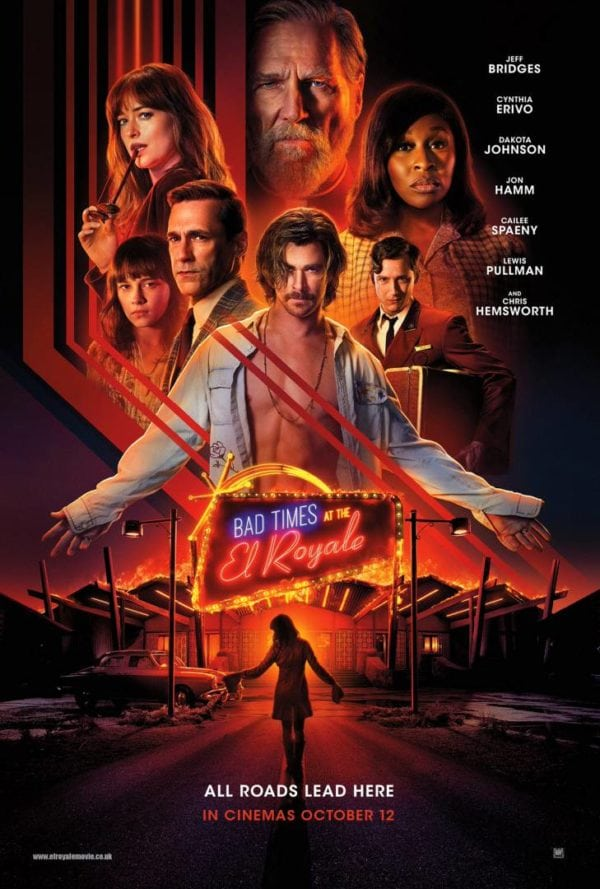 Bad Times at the El Royale gets a batch of new character posters. - Catch up with THE MOVIES with  @McBluetoothCCFR @phoenixgod23  @UsoroEdima @GenesisCinemas &amp; @fokiss On @CoolFMAbuja 3pm - 4pm TODAY!  #PopcornandReels #TheMovies<br>http://pic.twitter.com/KoLiT73p3T