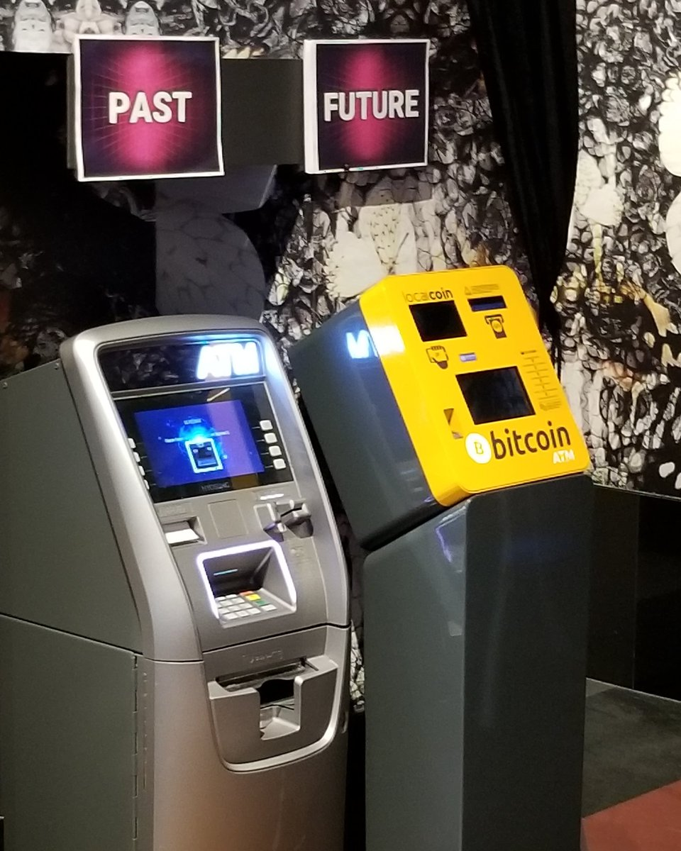 The #future of #banking and #transactions... The #bitcoinATMs. Second day of @Futurist_conf #futurist18. #cryptocurrencies #blockchain #ATMs #bitcoin #eth #litcoin #crypto