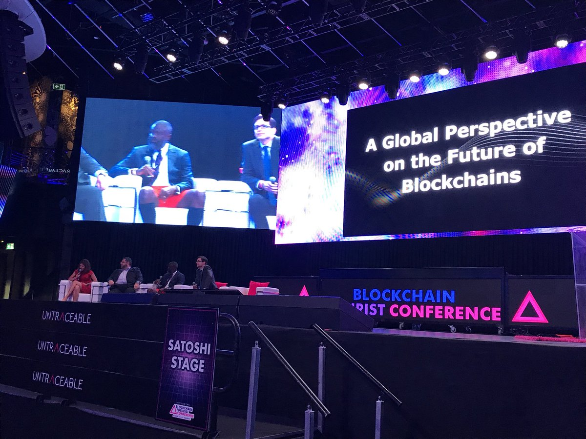 #FUTURIST18 | Panel on fhe Future of Blockchain From a Global Perspective now on the main stage.