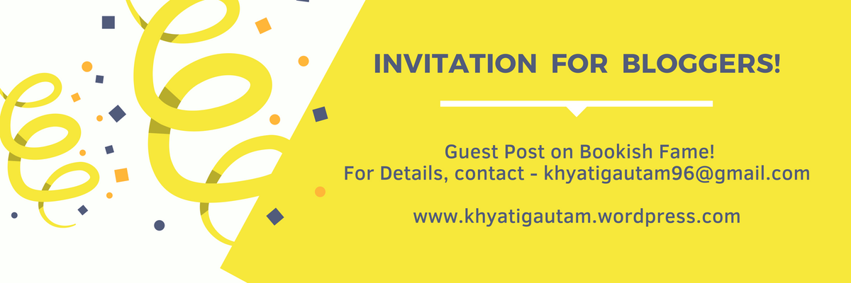 Inviting bloggers for a guest post exchange as I am inching close to 600 followers on my blog - Bookish Fame! See the poster. #bloggerstribe #blogging #wordpress #bloggers #blog #bookishfame @100bedtimestory  @BloggerLS  @FemaleBloggerRT  @BBlogRT<br>http://pic.twitter.com/BDXIT0d0a7
