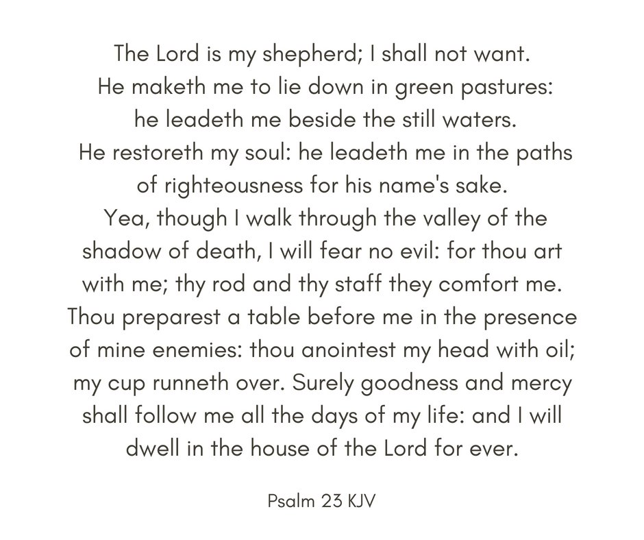 Sometimes we wake up in the morning with a cloud of worries. God&#39;s Word is there to help us  bring our focus into the right relationship with Him so that we can live out  all of our days in fullness of joy.  If you haven&#39;t already done so, try memorizing Psalm 23 today. <br>http://pic.twitter.com/uCCvPpGkJa