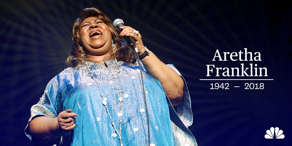 BREAKING: Aretha Franklin, the Queen of Soul, has died at her home in Detroit, her publicist tells the Associated Press. https://t.co/kdrUxk2XiK