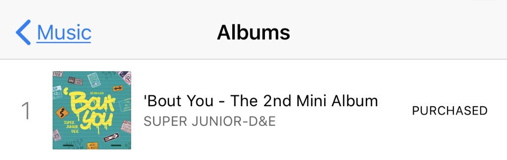 Super Junior D&amp;E Number 1 on Malaysia Itunes Chart for Music, Kpop, Pop (Category) and All Genres   Good Job Malaysian ELF   #SuperJuniorDnE #동해 #은혁 #BoutYou #머리부터발끝까지 #SuperJunior #Donghae #Eunhyuk @SJofficial <br>http://pic.twitter.com/qw3h5tG1ag
