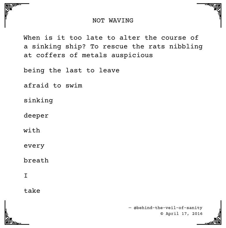 #poetry #visualpoetry #poem #poems #micropoetry #micropoem #writing #poetrycommunity #poets #IARTG #AmWriting #IndieAuthors Posted on Tumblr:  https:// ift.tt/2vNwyEh  &nbsp;  <br>http://pic.twitter.com/xYdqiZpizA