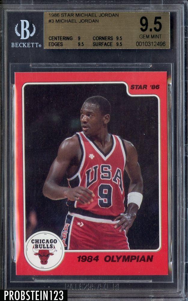 1986 Star 1984 Olympian 3 Michael Jordan Bulls RC Rookie HOF BGS 95 Googl 7XycNe Pictwitter FkFaR8oEPo