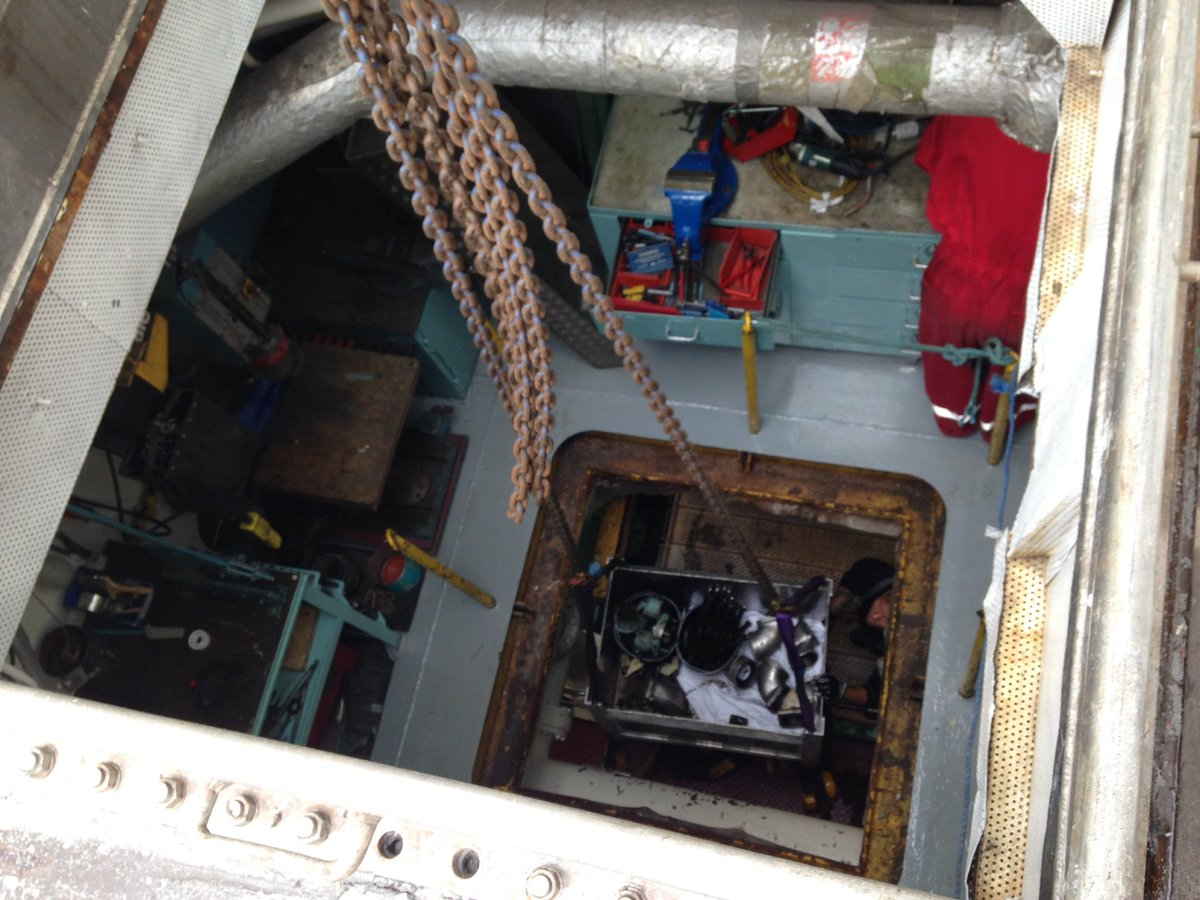 Looking from the Upper Deck diem into the #Engineers Workshop and the Main Alternator Room of the RRS James Clark Ross @BAS_News