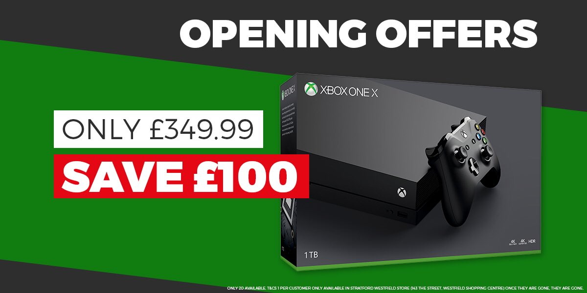 46f57e2f127 Always fancied getting your hands on an XboxX  You can  GAMEStratford  tomorrow...and we ll even give you £100 off! Be quick as these offers won t  last ...