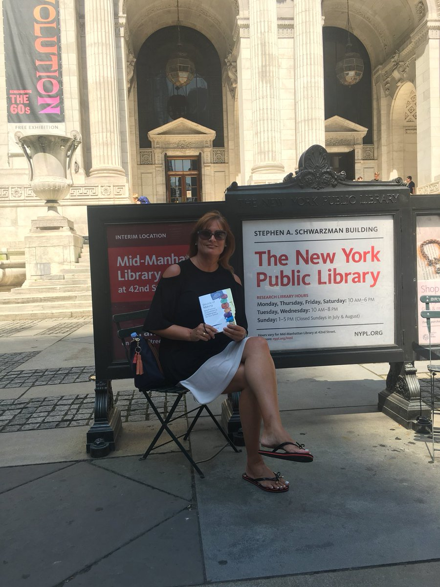 """Taking a break to read """"Worlds of Making"""" by @LFlemingEDU @nypl #nyc #makers #read"""