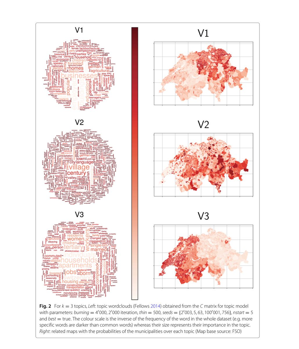 """An illustrated approach to Soft Textual Cartography  """"constructing a complex weighted network, reflecting the geographical layout, and whose nodes are further characterised by their thematic dissimilarity, extracted form topic modelling.""""  https:// appliednetsci.springeropen.com/articles/10.10 07/s41109-018-0087-y &nbsp; … <br>http://pic.twitter.com/Bf3Q6gydRd"""