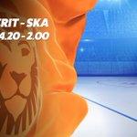 Image for the Tweet beginning: #Jokerit isännöi SKA:ta tänään Tikkurilassa.  #KHLfi-harjoitusottelun