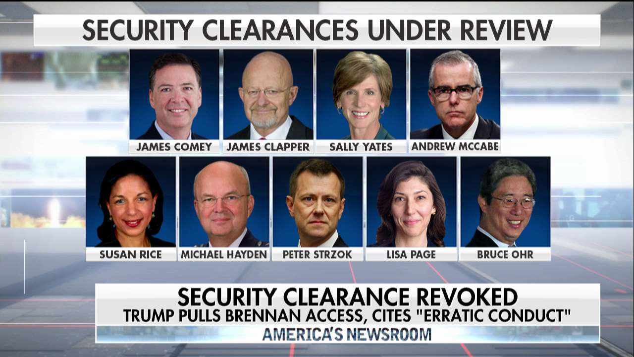 Security clearances under review. https://t.co/JBUulCTMzb