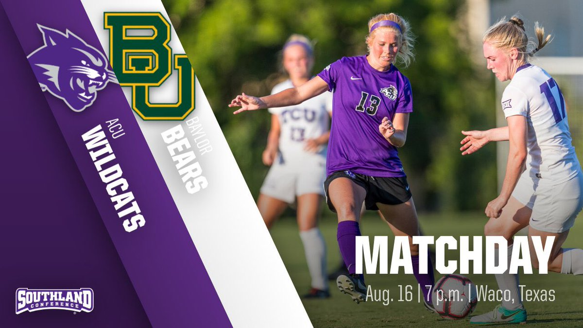 """HERE WE GO! On to Waco to take on Big 12 Tournament Champion and no. 15 Baylor tonight at 7pm. A lot of hard work and #SACRFCE going into today. Ready to get the season kicked off and focused on a Southland Conference Championship. """"Love the Lord, love the game!"""" #GoWildcats<br>http://pic.twitter.com/pKWab1WCfC"""