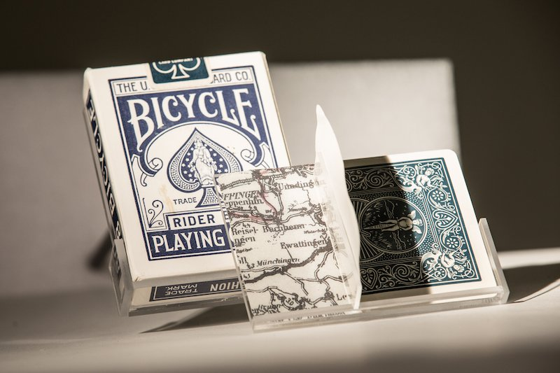 #SPYArtifact: Bicycle® Escape Map Cards, 1940s. During WWII, the U.S. Playing Card Co. joined forces with American &amp; British intelligence agencies to create a deck &amp; help allied prisoners of war escape from German POW camps. Water was applied to reveal the map of escape routes. <br>http://pic.twitter.com/otbqK2UZeY