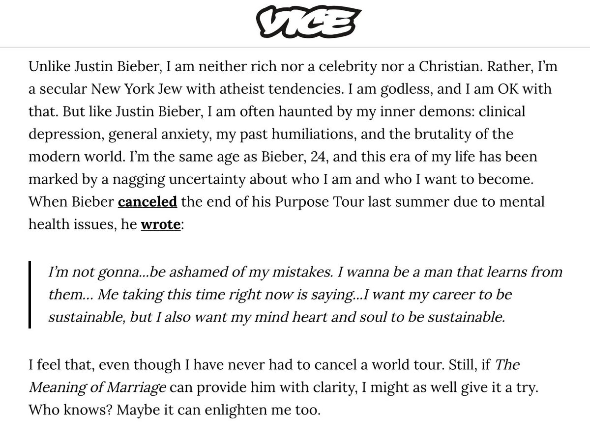 I wrote about the ways in which I relate to Justin Bieber, and where we differ vice.com/en_us/article/…