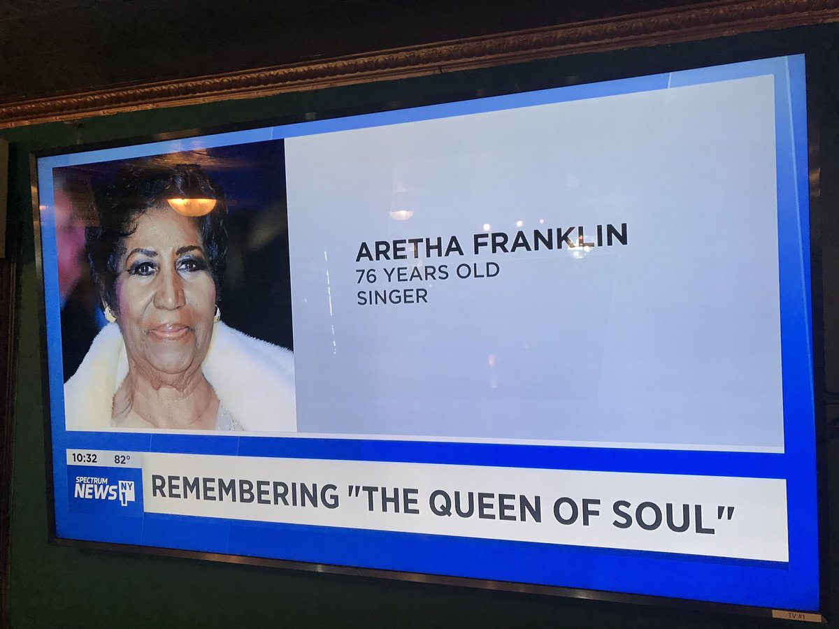 We're saddened by the lost of music icon #ArethaFranklin, Queen of Soul. You'll always be remembered... * * * #itsinqueens #rip #queensnyc #nyc #neirs