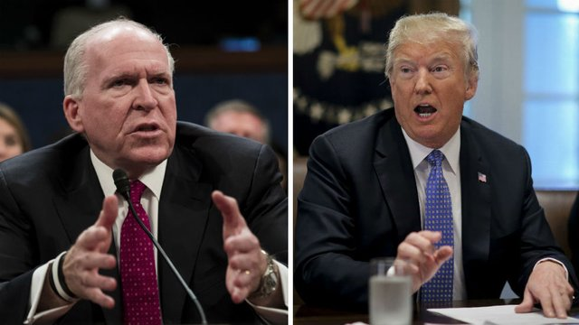Trump: I revoked Brennan's clearance because of Russia probe https://t.co/Sn2N3byJja