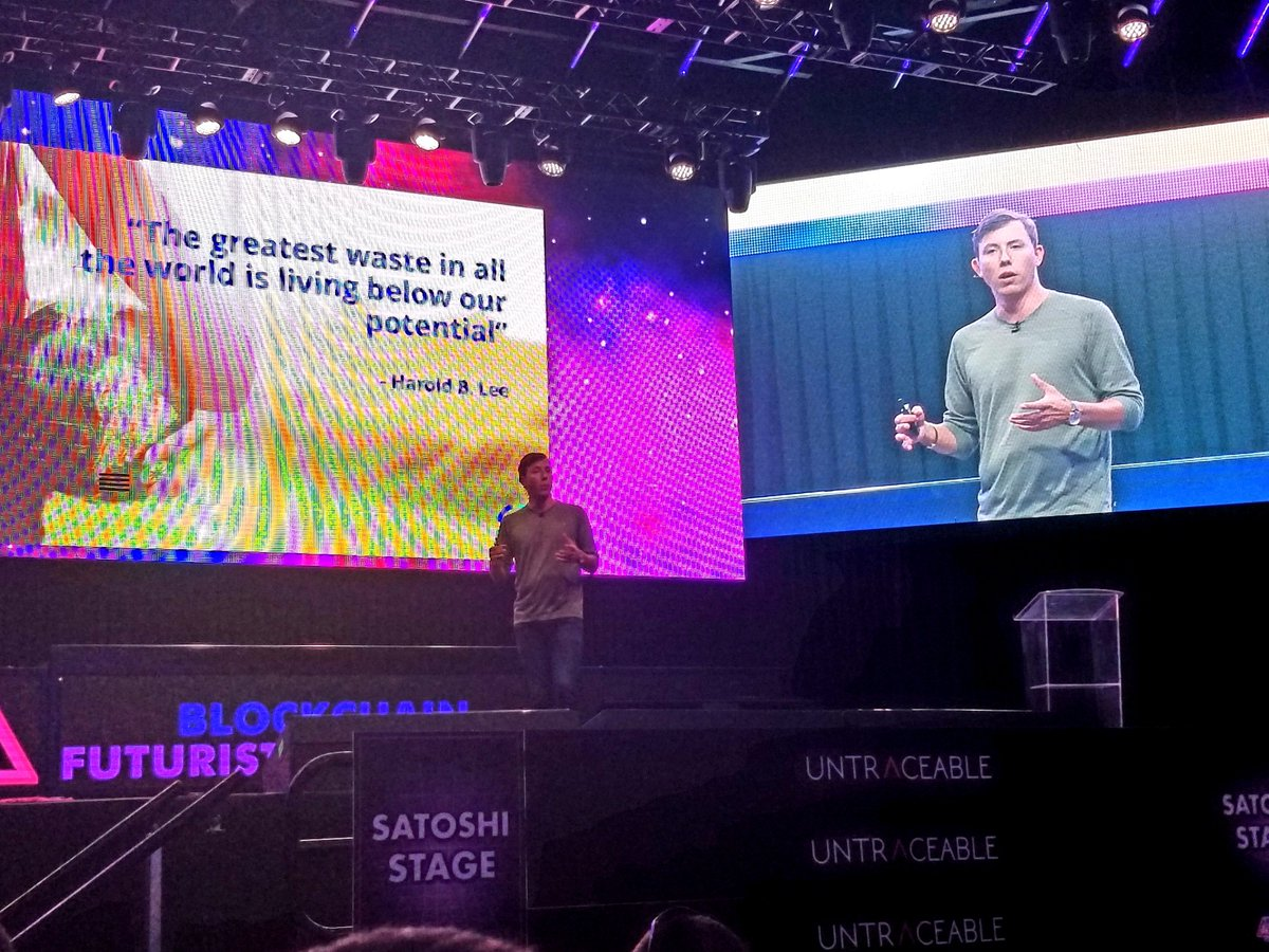 We have a lot of challenges that we can address but only if were focused on the right things - @MattSpoke @Aion_Network #futurist18 #blockchain #crypto