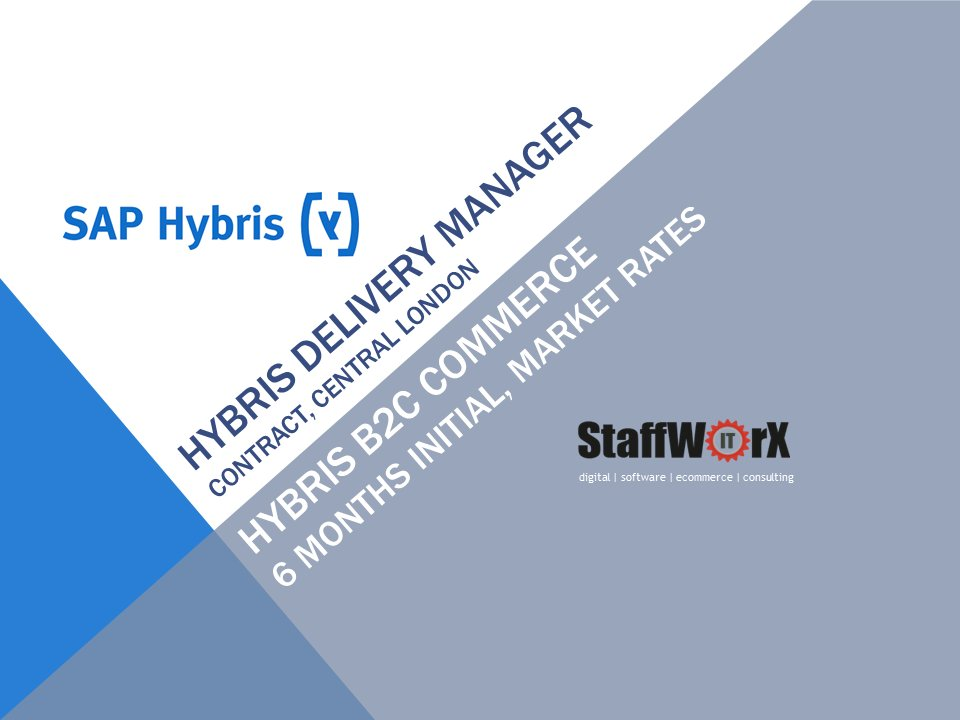 test Twitter Media - Hybris Commerce Delivery Project Manager (Central London) contract  https://t.co/mytkul1Uus https://t.co/GJ9081QsIO
