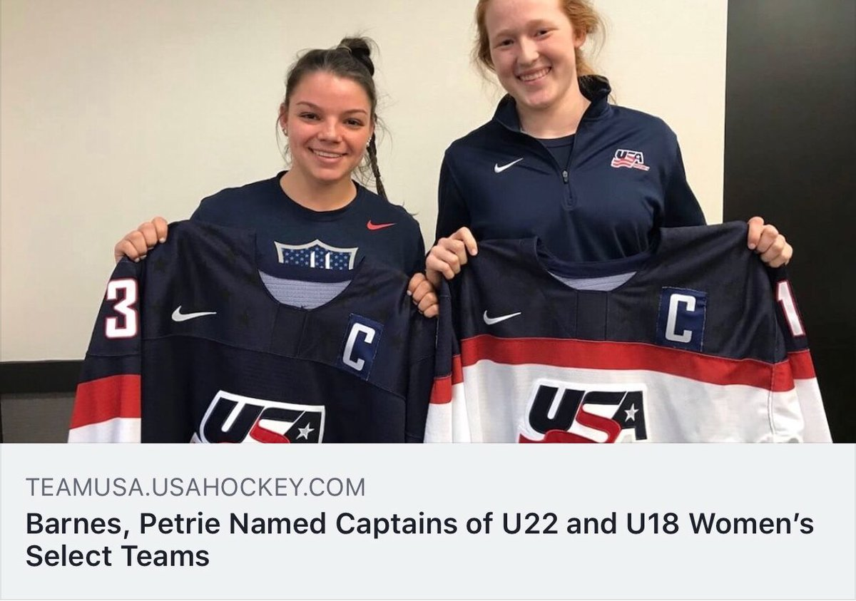 Congrats to these Southern California girls on being named captains at the @usahockey U22 festival! @cayla_barnes27 @domspetrie<br>http://pic.twitter.com/CIHbvQHVws