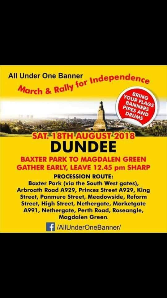 Poster for AUOB walk in Dundee From Baxter Park leaving 12.45 to Magdalen Green