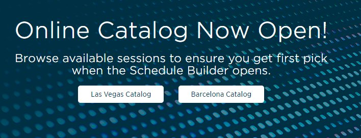 Woot! The online catalog for #NetAppInsight is now available! Browse for sessions today so that you can get first pick when the Schedule Builder opens: ms.spr.ly/6010rfWXw