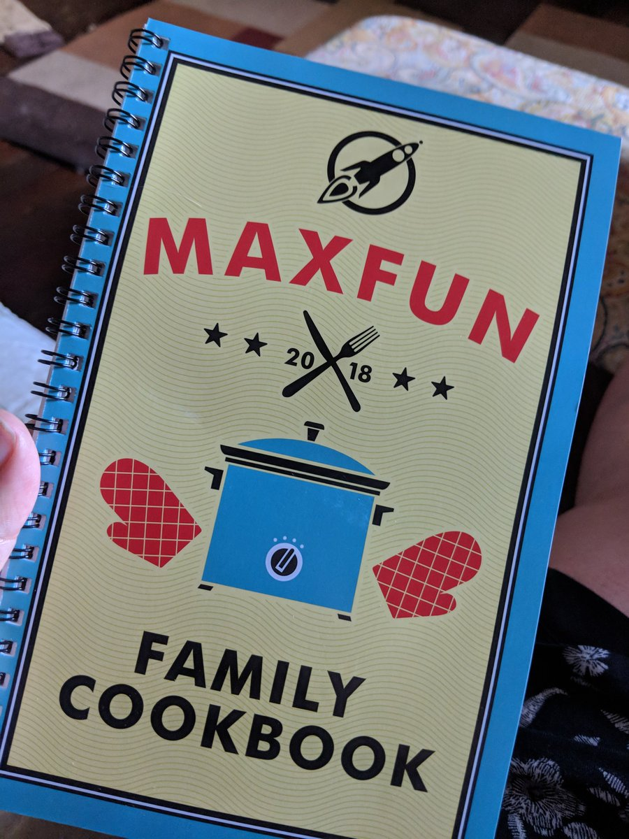So many fun recipes in the @MaxFunHQ   cookbook. Tech comm (recipes) + found family story telling is actually a great representation of why I love this podcast network. @JustinMcElroy writing about his mom&#39;s Chess bars is magic. <br>http://pic.twitter.com/58TgJoT1pi