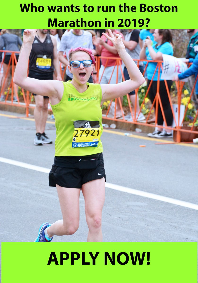 Marathon season begins now! Team Brookline is now accepting applications for our 2019 Boston Marathon team. If you&#39;ve ever wanted to run the world&#39;s greatest marathon, here&#39;s your chance!  http://www. teambrookline.org  &nbsp;   #BostonMarathon #BeBoston #BrooklineRuns #BostonRuns<br>http://pic.twitter.com/b8vEn40Kry