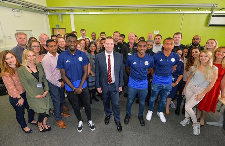 Just your average day in the office, making Clearing offers with @LCFC @dmuleicester #ProudtobeMore<br>http://pic.twitter.com/Sx8tisAY1r