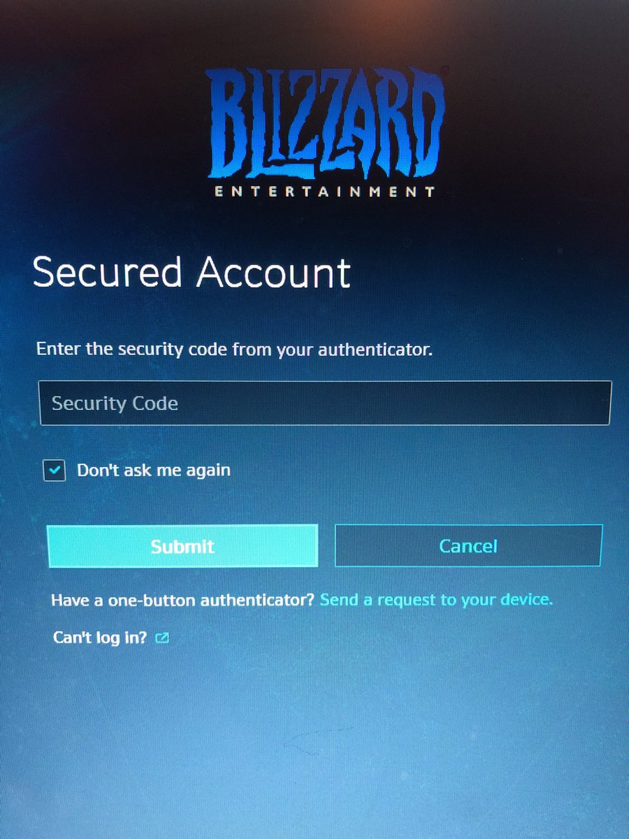blizzard authenticator serial number