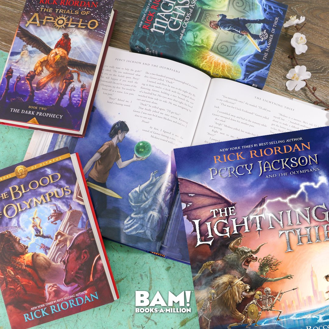 This deluxe gift edition of the best-selling PERCY JACKSON AND THE LIGHTNING THIEF is available now at #BooksAMillion. Lavishly illustrated by series artist John Rocco, this is a must-have for Riordan fans. bit.ly/2MqvPSR