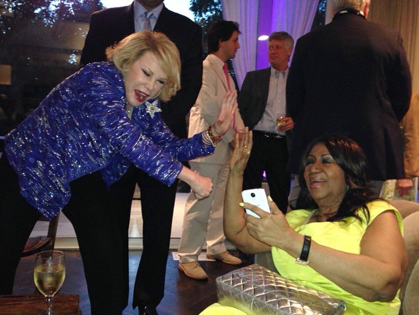 My mom and her friend, the late, great, Aretha Franklin. Another legend has joined what must be the best party ever. #RestInPeace #QueenofSoul #RESPECT  #ArethaFranklin