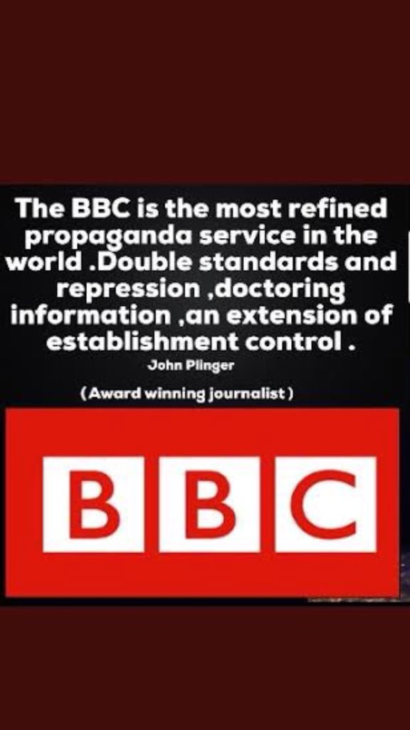 #AbolishBBCLicenceFee  #BBCswitchoff  &quot;The BBC is the most refined propaganda service in the world. Double standards and repression, doctoring information, an extension of establishment control&quot; John Pilger (Award winning journalist) <br>http://pic.twitter.com/qyrrSugqhQ