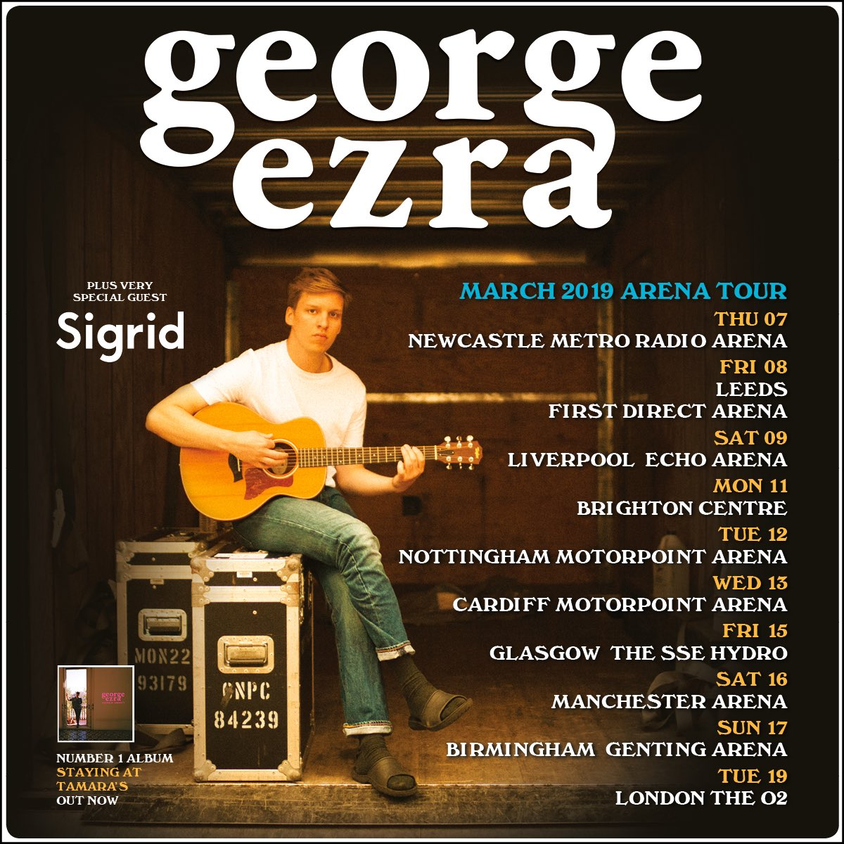 we are supporting george ezra on his UK tour in march!!!! HELLO HELLO SEE YOU SOON  <br>http://pic.twitter.com/R04yXiAgsx
