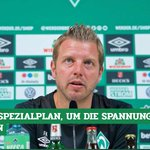 Image for the Tweet beginning: #Werder-Coach Florian #Kohfeldt erklärt die