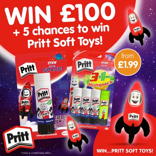 #COMPETITION TIME   We&#39;re starting off the week with a BRAND NEW COMPETITION!  FLW &amp; RT for the chance to #WIN £100 worth of B&amp;M vouchers PLUS 5 runners-up will receive Pritt Stick soft toys!  Competition ends 9am 20/8/18 <br>http://pic.twitter.com/oBKgkpLrOQ