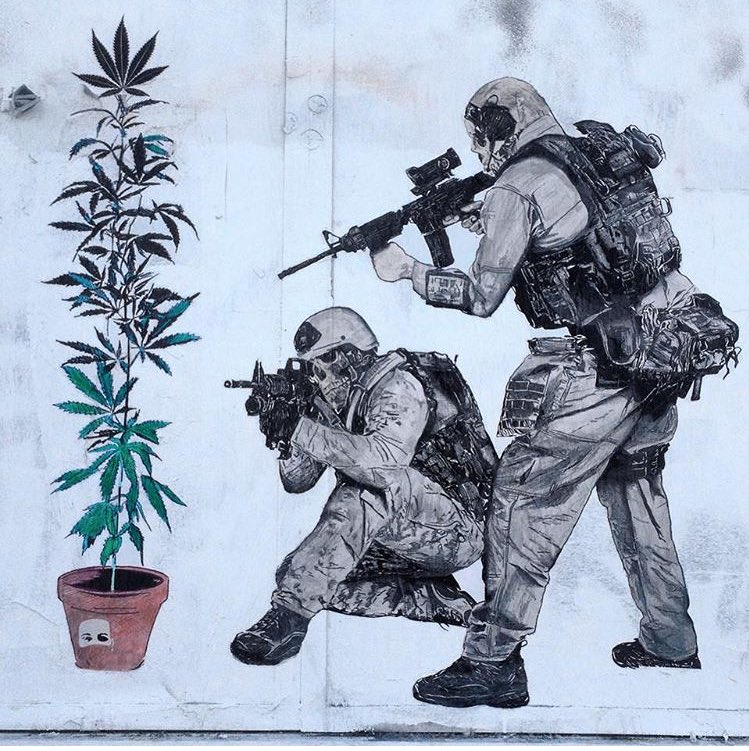 'Someday, this will be looked back on as the absurd and shameful travesty it's been. Someday' #LegalizeIt   #cannabis #warondrugs #endprohibition #decriminalizeit #descheduleit #keepgoing #keepgrowing #itsaplant #cannabiscommunity #streetart #abscnt #buddyjane <br>http://pic.twitter.com/FCkgQMaBih