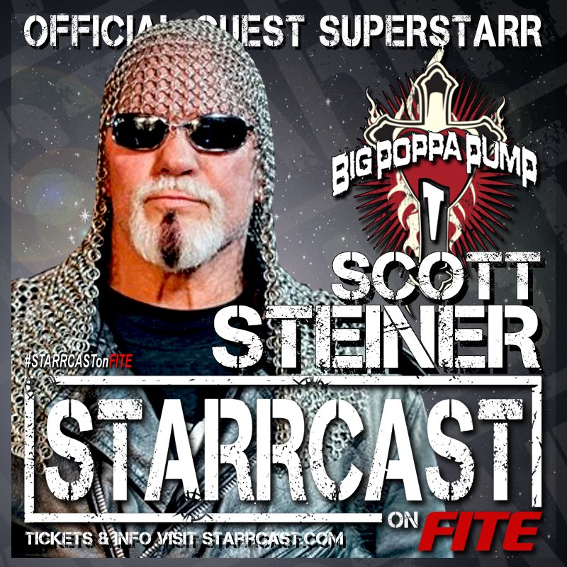He's Big Poppa Pump. He was an All-American wrestler. He's a multi-time Tag Team Champion. He's a former United States & Television Champion. He's a former World Heavyweight Champion and we're proud to announce him as a guest superstarr!  Scott Steiner is #ALLIN at #Starrcast!