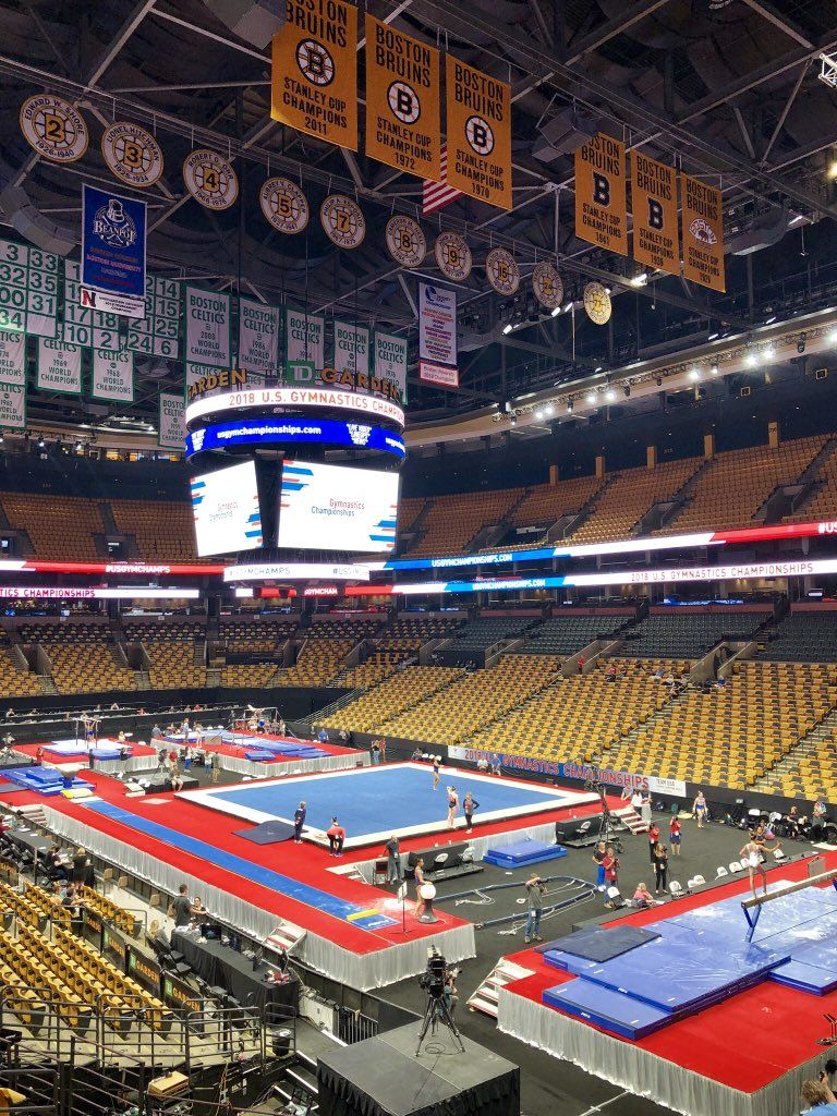 I've called #Celtics games and #FigureSkating here @tdgarden. This week, no court-no ice. #USGymChamps start tonight @NBCSN @NBCSports @olympicchannel @Simone_Biles @SamuelMikulak headline the fields