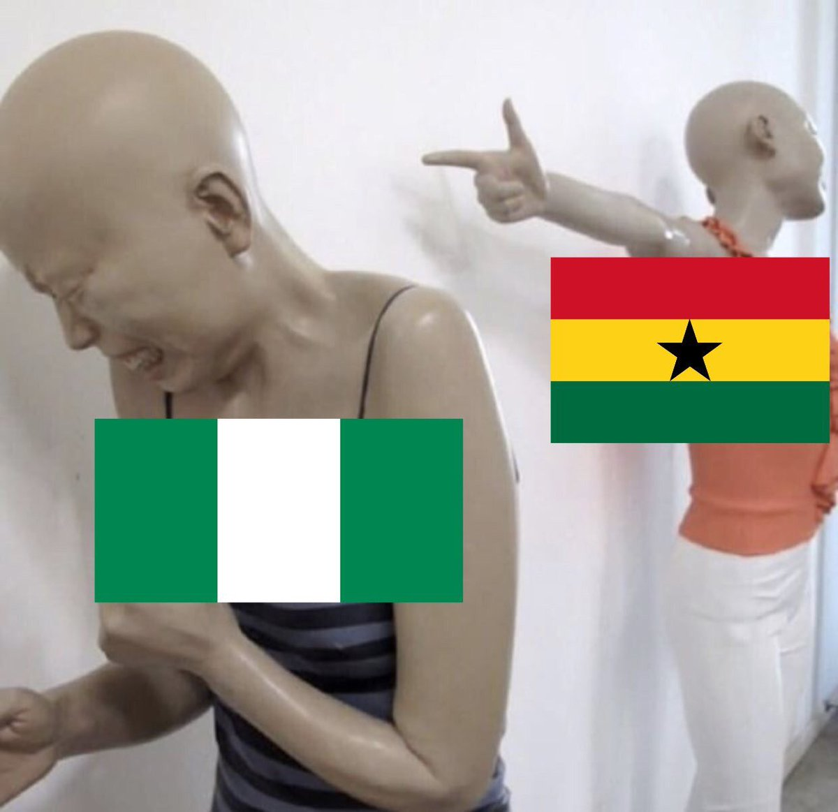 Current FIFA Rankings: Ghana - 45 | Nigeria - 49  Even though Ghana didn&#39;t make it to the World Cup, Ghana is still ranked higher than NIgeria.  All the Mediocre Eagles of Nigeria did at the World Cup was dance to &#39;Assurance&#39;. <br>http://pic.twitter.com/QlHi5VwvfY