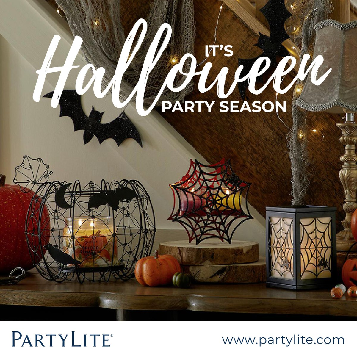 partylite on twitter celebrate the spookiest season of style with our stunning halloween dcor and fragrances the perfect party season accessories