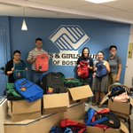 As Boston youth head back to school this week, 100 of them will be donning new backpacks thanks to our team in the Boston office! Last week, the team stuffed 100 backpacks with school supplies for local youth. These backpacks were then donated to the youth through @bgcboston!