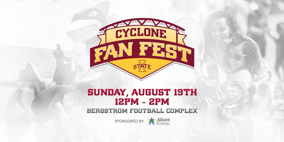 """Iowa State Athletics on Twitter: """"🚨 Cyclone Fan Fest is ..."""