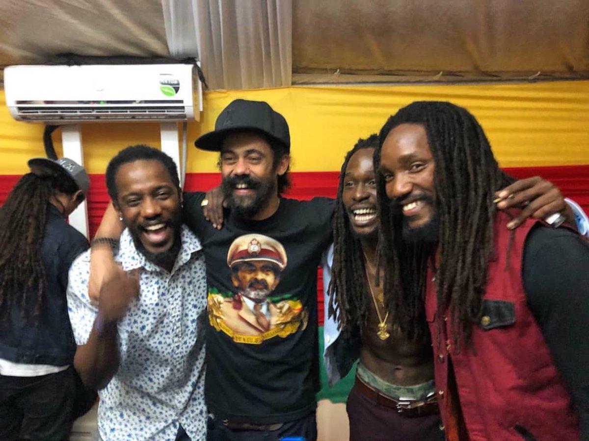 Backstage vibes at #Sumfest…. @Wayne_Marshall @JesseRoyal1 @Kabakapyramid #MontegoBay #Jamaica #ReggaeSumfest #StonyHill #GloryToGod #LilyofDaValley #Kontraband