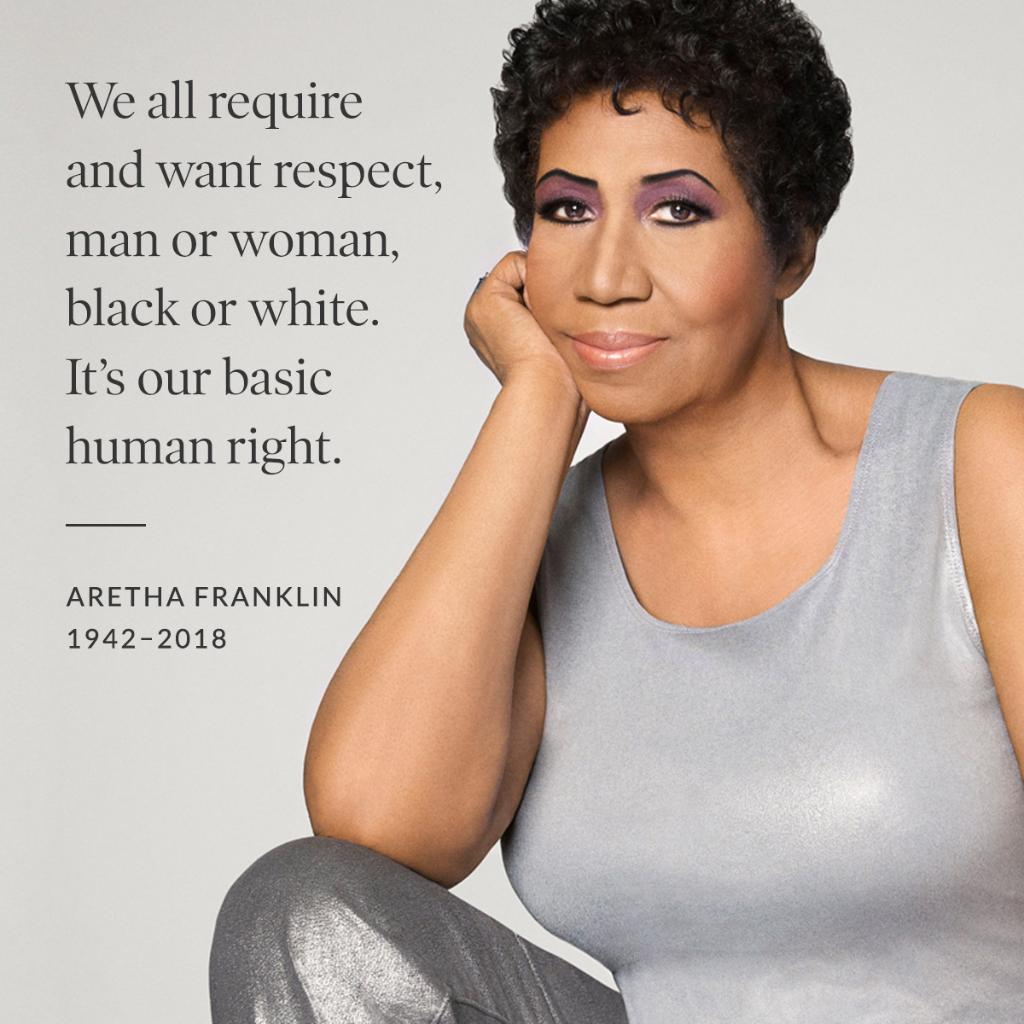 Rest in peace, Aretha Franklin.