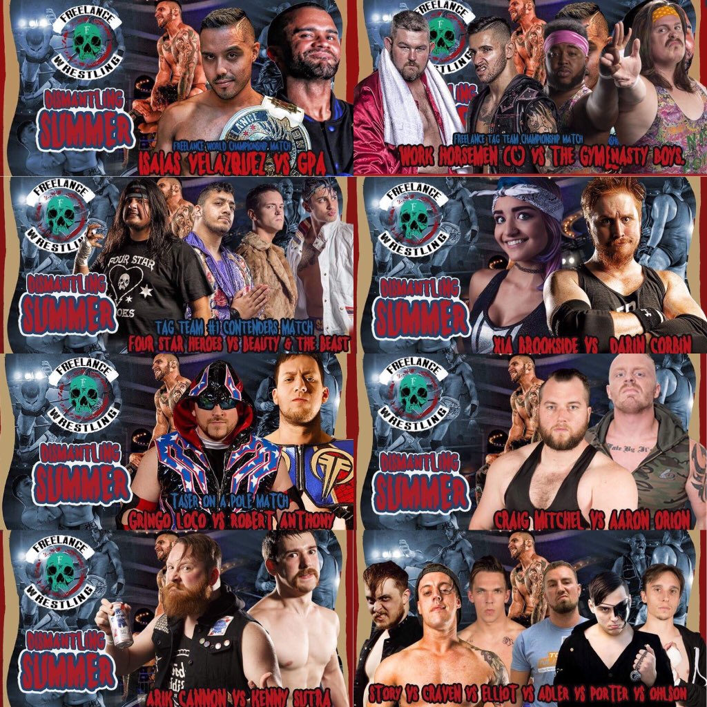 I'm super pumped about this @FreelanceWres show next week Friday. A lot of interesting stories being told.   Returns.Debuts.Old Promo Pics.Tasers.   @   http:// freelancewrestling.com  &nbsp;     Also, I can't believe @aestheticstevie got free agent Ellsworth to team with him<br>http://pic.twitter.com/qB8zaGWB05